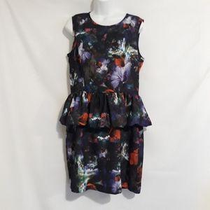 H&M floral peplum dress